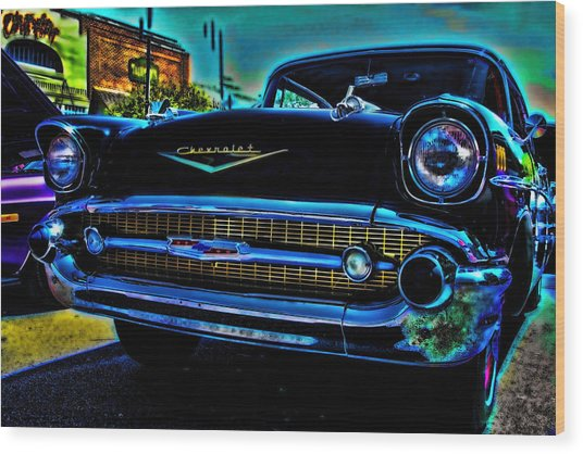 Drive In Special Wood Print