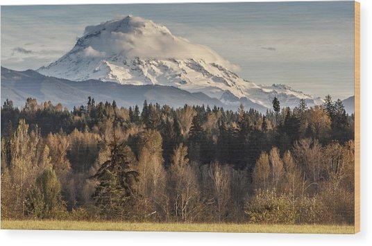 Drive'n Round Mt Rainier Wood Print