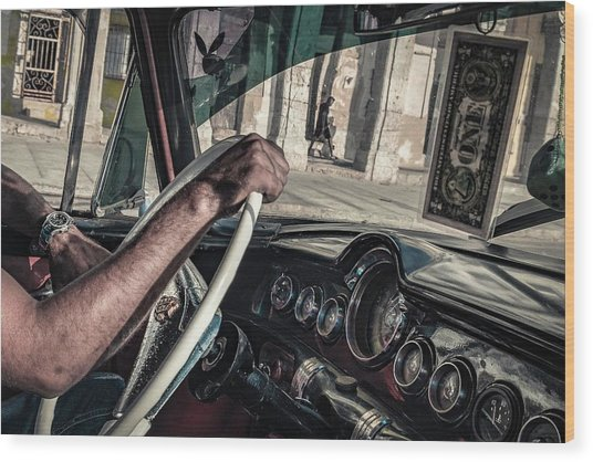 Driver Wood Print by Andreas Bauer