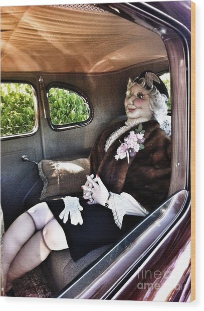 Driving Miss Daizee Wood Print