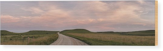 Driving Through The Flint Hills Wood Print