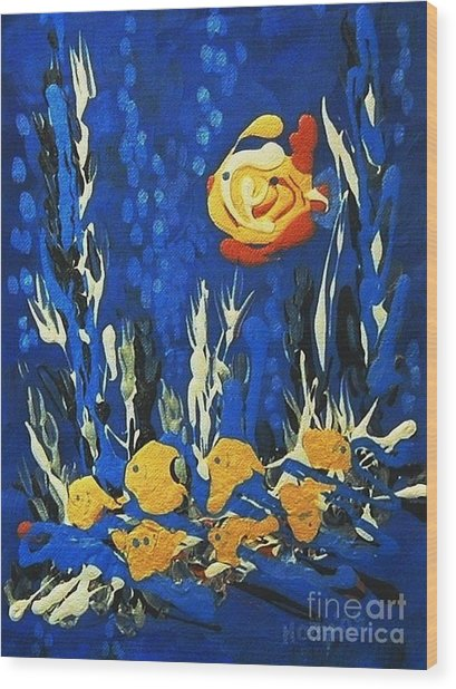 Drizzlefish Wood Print