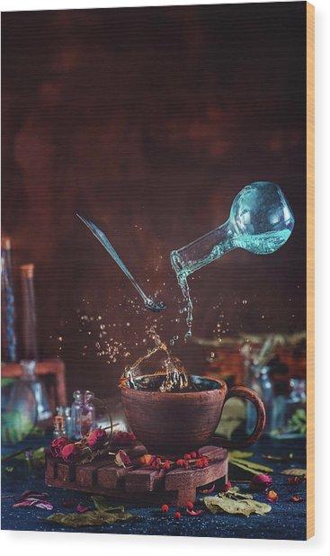 Drop Of Potion Wood Print
