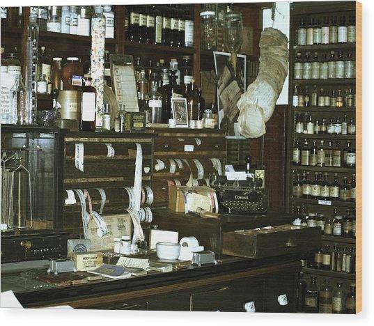 Drug Store Wood Print