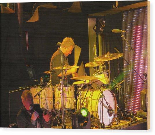 Drumer For Newsong Rocks Atlanta Wood Print