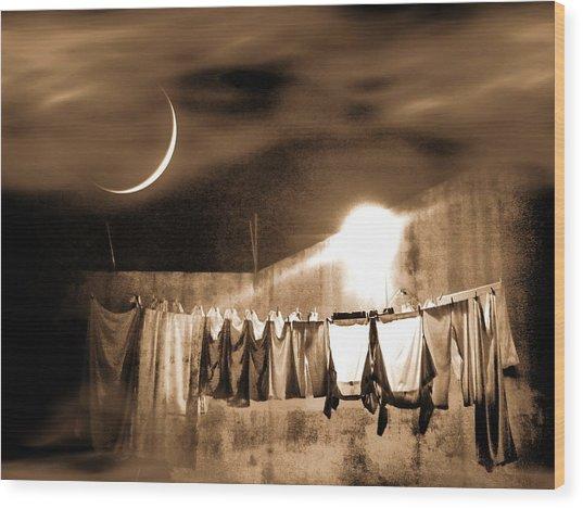 Dry Night Wood Print