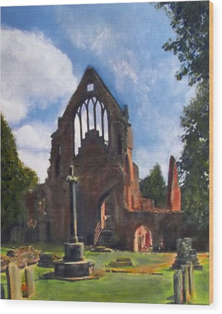 A Space To Cherish Dryburgh Abbey  Wood Print