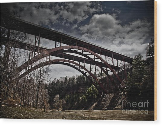 Dual Arched Bridge Wood Print