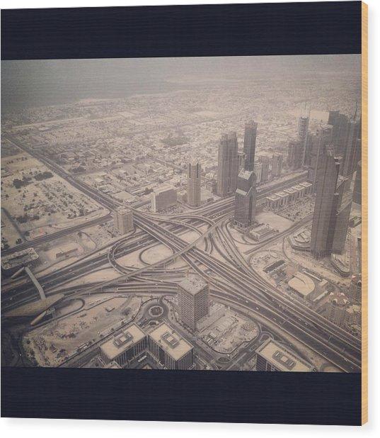 Dubai Citylife Wood Print by Maeve O Connell