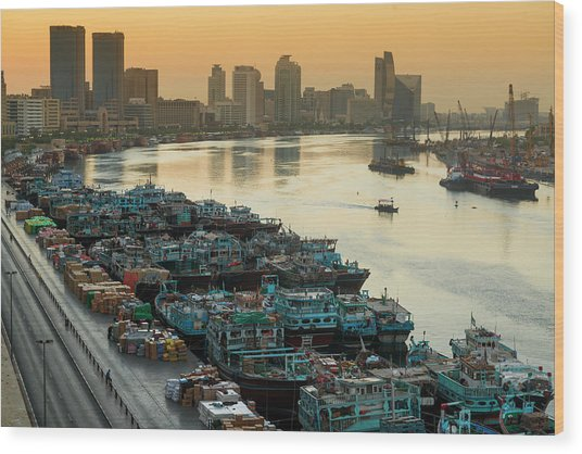 Dubai Creek Wood Print by © Naufal Mq