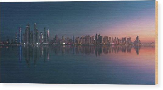 Dubai Marina Skyline Wood Print