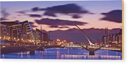 Wood Print featuring the photograph Dublin Docklands At Dawn / Dublin by Barry O Carroll