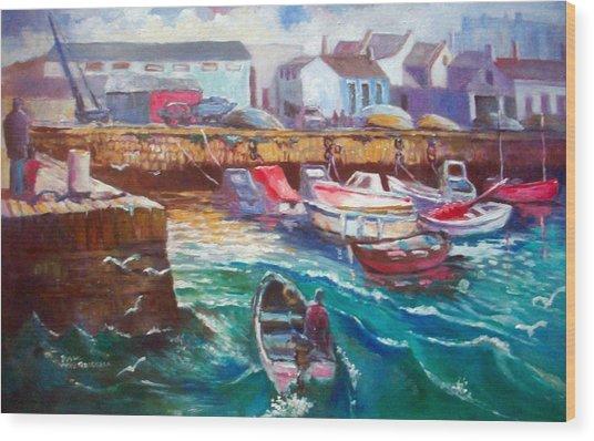 Dublin Ireland Bullock Harbour Wood Print