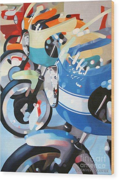 Ducati Line Wood Print by Guenevere Schwien