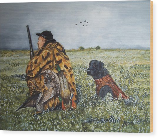 Duck Hunters Wood Print