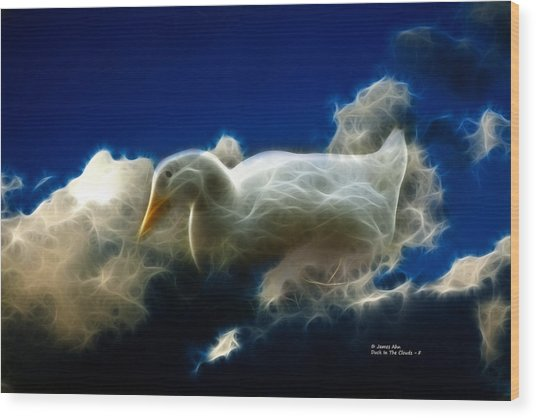 Duck In The Clouds - F Wood Print