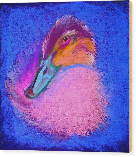 Duckling Pretty In Pink Wood Print