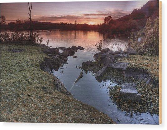 Duddingston Loch Wood Print