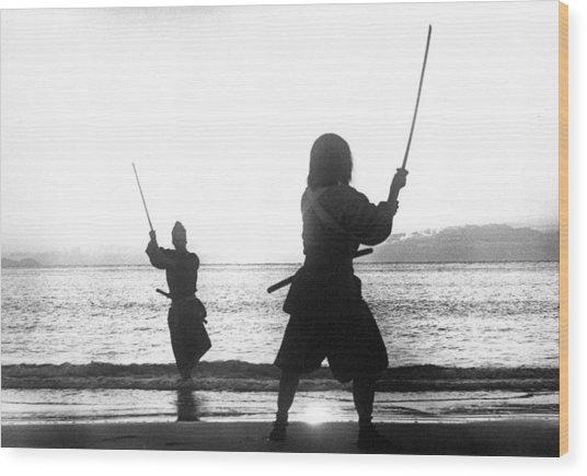 Duel On Ganryu Island Wood Print