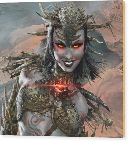 Duels Of The Planeswalkers 2014 Persona Ten Wood Print