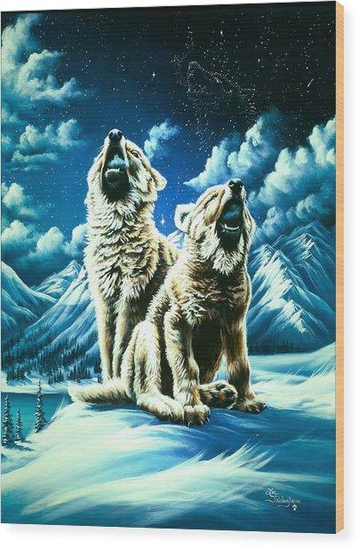 Duet Wood Print by Lori Salisbury