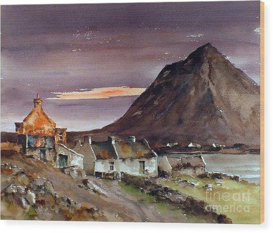 Dugort Achill Island Mayo Wood Print