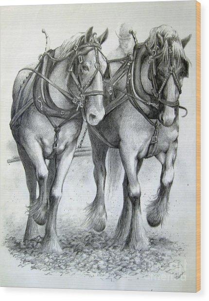 Duke And Molly Wood Print