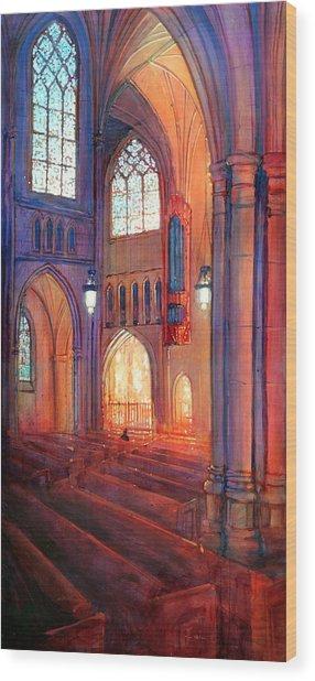 Duke Chapel Interior Wood Print