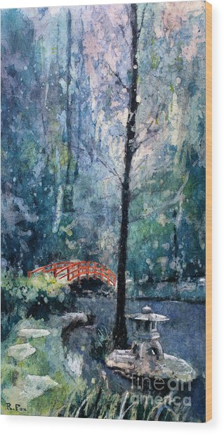 Duke Gardens Watercolor Batik Wood Print
