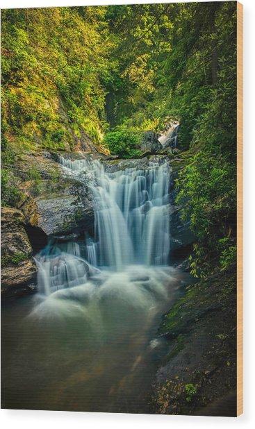 Dukes Creek Falls Wood Print