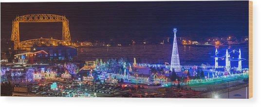 Duluth Christmas Lights Wood Print