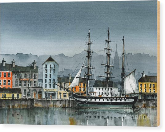 Dunbrody Famine Ship  In New Ross Wood Print