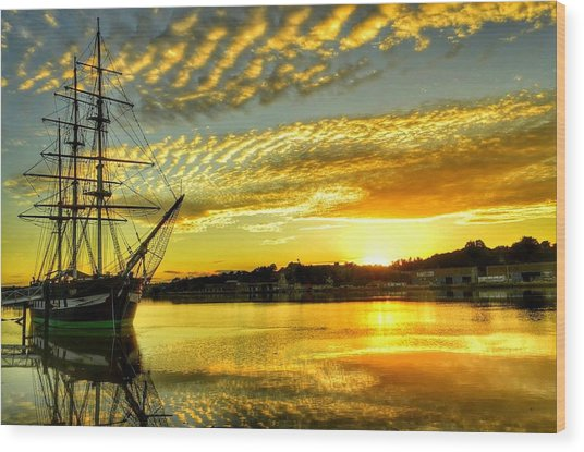 Dunbrody Famine Ship Wood Print