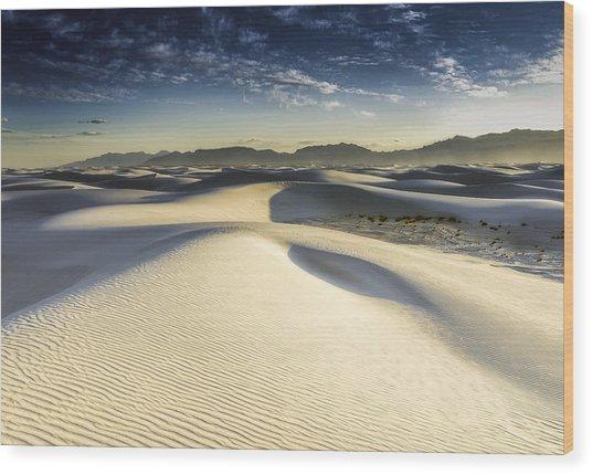 Dune Wood Print by Christian Skilbeck