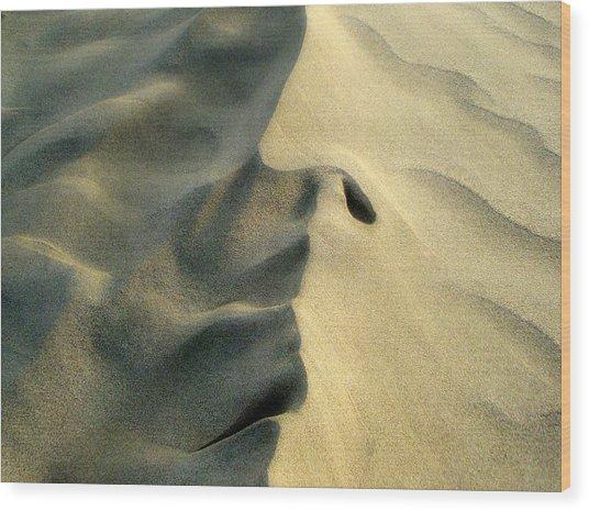 Sleeping Dune Face Wood Print