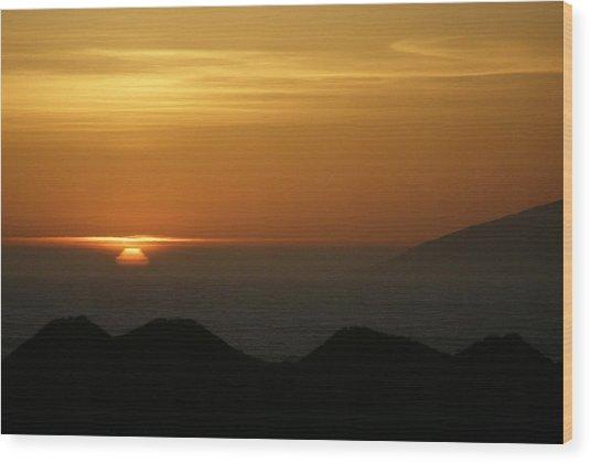 Dune Sunset 1 Wood Print
