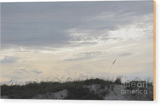 Dunes At Dusk II Wood Print by Gayle Melges