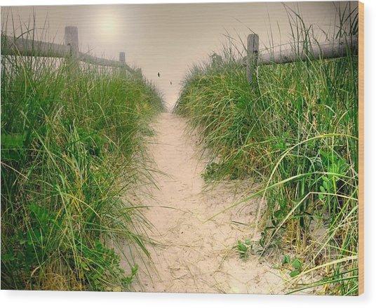 Dunes Catch Light Wood Print