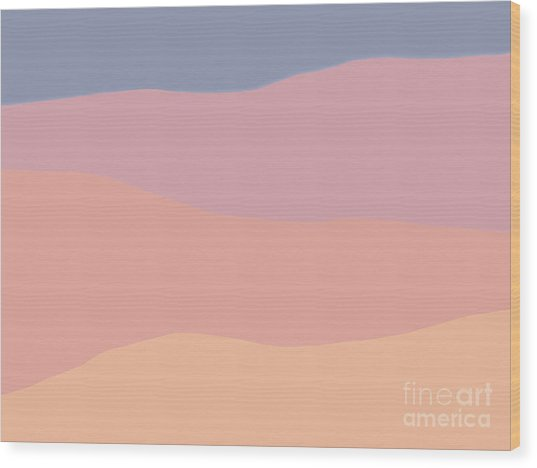 Dunes Forward Wood Print
