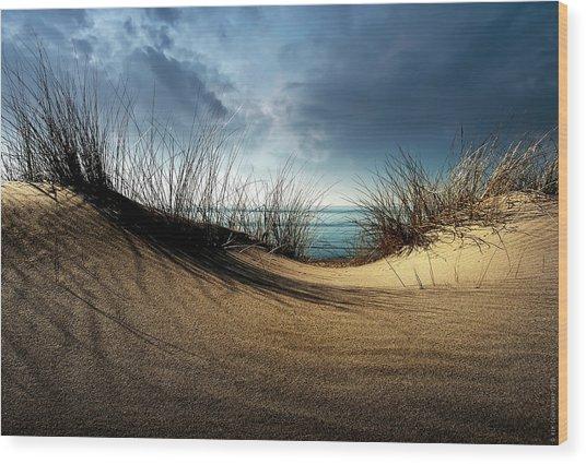 Dunes........... Wood Print by Wim Schuurmans