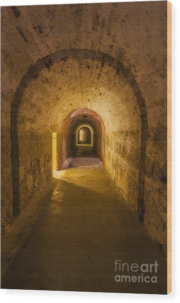 Dungeon At Castillo San Cristobal In Old San Juan Puerto Rico Wood Print