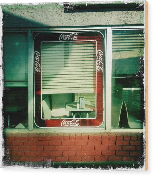 Dunnigan Cafe Wood Print