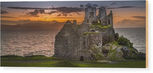 Dunure Castle Ayrshire Scotland Wood Print