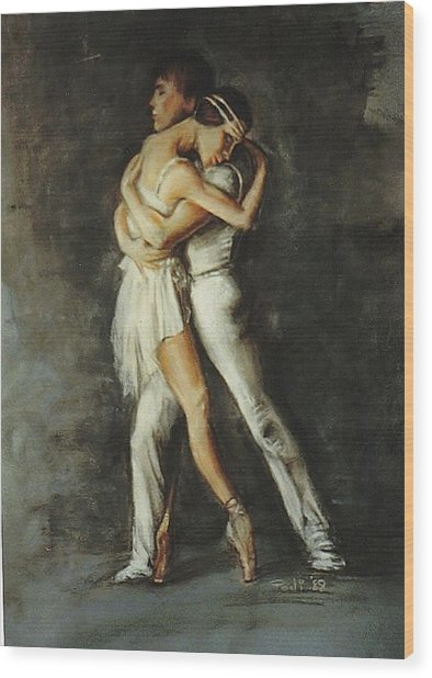 Duo Dance Wood Print by Podi Lawrence