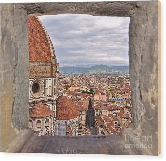 Duomo From Campanile Tower Wood Print