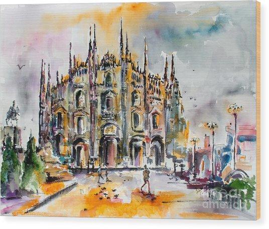 Duomo Milan Italy Wood Print