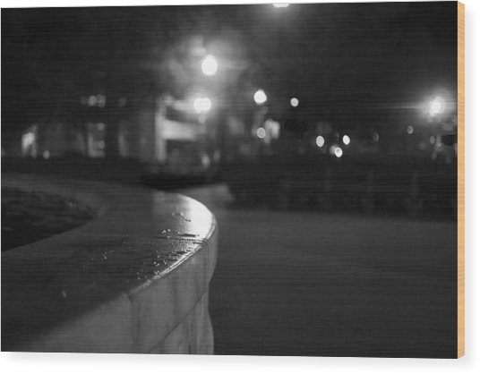 Dupont Circle Fountain Side Wood Print by Michael Williams
