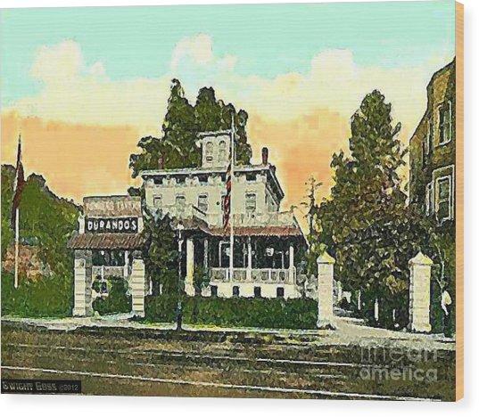 Durando's Tavern In Yonkers N Y In 1915 Wood Print by Dwight Goss
