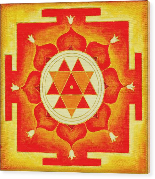 Durga Yantra Is A Powerful Yantra For Transformation Of Consciousness Wood Print