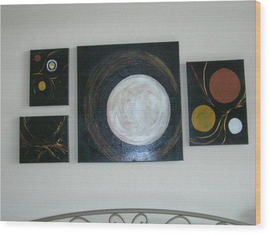 Decrocher La Lune Wood Print